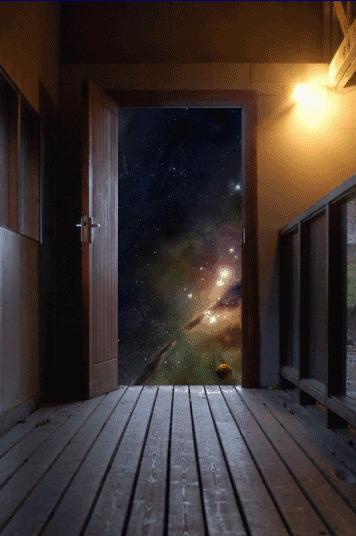 из комнаты видна входная дверь